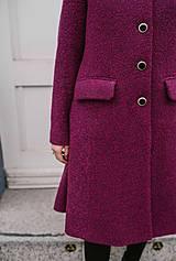 Kabáty - Vlnený kabát princess strihu SEVERANKA-buklé - 11405161_