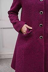 Kabáty - Vlnený kabát princess strihu SEVERANKA-buklé - 11405162_
