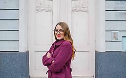 Kabáty - Vlnený kabát princess strihu SEVERANKA-buklé - 11405163_