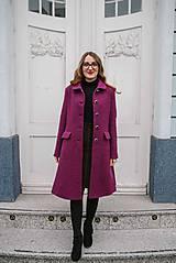 Kabáty - Vlnený kabát princess strihu SEVERANKA-buklé - 11405167_