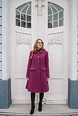 Kabáty - Vlnený kabát princess strihu SEVERANKA-buklé - 11405173_
