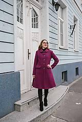 Kabáty - Vlnený kabát princess strihu SEVERANKA-buklé - 11405174_