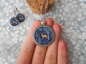 Sady šperkov - Hnedý jelenček (sada šperkov) - 11403782_