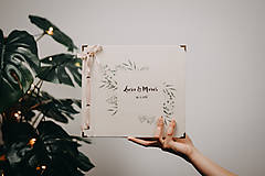 Papiernictvo - Fotoalbum klasický, papierový obal so štruktúrou plátna a ľubovoľnou potlačou (momentálne nedostupné)  (Fotoalbum klasický, papierový obal so štruktúrou  a  potlačou greenery 2) - 11402269_