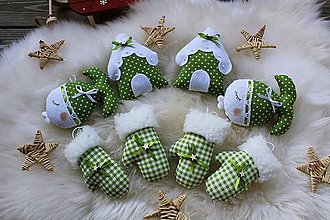 Dekorácie - Vianočné ozdoby sada zelená - 11402430_