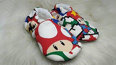 Topánočky - Capačky farebné hríbiky 9-12 mesiacov - 11405176_