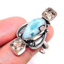 Prstene - Prsteň Larimar v.54 - R-2583 - 11402572_