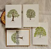 - pohľadnice - listnatý set 3ks - 11402570_