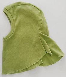 Detské čiapky - Detská merino kukla (3 - 6 rokov - Tyrkysová) - 11404288_