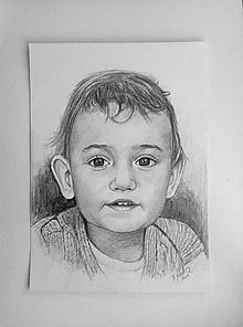 Kresby - portrét malého chlapčeka-doplatok pre Majku - 11405179_