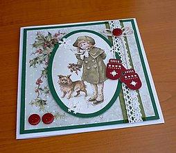 Papiernictvo - Dievčatko so psíkom - 11405438_