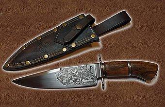 Nože - Ručne vyrobený nôž - 11403210_