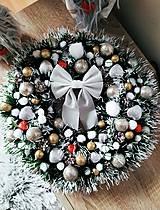 Dekorácie - Vianočný veniec - 11405613_