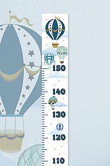 Detské doplnky - Rastový meter balóny - 11402497_