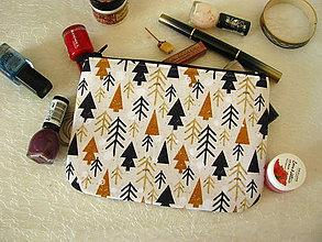 Taštičky - Taštička na mobil - zimní lesy - 11402190_