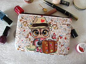 Taštičky - Taštička na mobil - Cestovní sova - 11405101_
