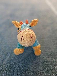 Hračky - háčkovaná kravička - 11403354_