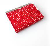 Peňaženky - Peňaženka s priehradkami Červená bodkovaná - 11402274_