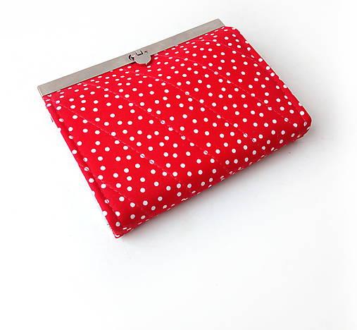 Peňaženka s priehradkami Červená bodkovaná