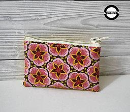 Taštičky - Kapsička květy růžové - 11402580_