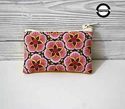 Taštičky - Kapsička květy růžové 2 - 11402601_