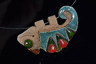 Náhrdelníky - chameleon - 11404312_