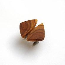 Šperky - Drevené manžetové gombíky - jabloňové kúsky (nerez) - 11403748_