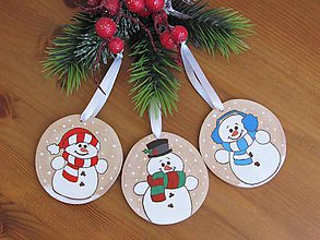 Dekorácie - Vianočné ozdoby z dreva XV - 11405007_