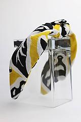 Ozdoby do vlasov - Čelenka biela so žlto hnedým vzorom - 11406267_