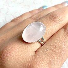 Prstene - Rose Quartz Sterling Silver Ring / Výrazný strieborný prsteň s ruženínom AG925 - 11407331_