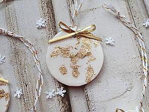 Dekorácie - Vianočné ozdoby - V zlate - 11406519_