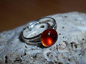 Prstene - ring with garnet-hessonit- - 11408749_