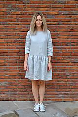 Šaty - Šaty CLARA sivé - 11406508_