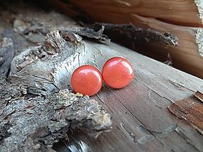 Náušnice - Krúžky 12 mm (červené) - 11406191_