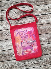 Iné tašky - červená crossbody - 11408367_