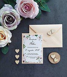 Papiernictvo - Svadobné oznámenie POCIT C - 11407123_