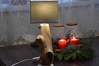 Svietidlá a sviečky - Lampa z náplavového dreva - 11406596_