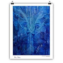 Obrazy - Stretnutie (art print 35x45cm) - 11407365_