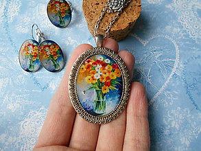 Sady šperkov - Maľovaná kytica - 11408043_