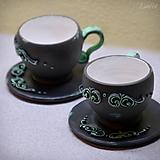 Nádoby - Romantický párik - sada 2 espresso šálok - 11407773_