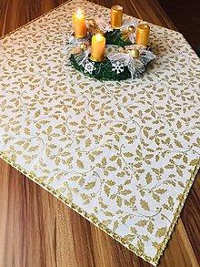 Úžitkový textil - Obrus vianočný ZLATO ZLATÝ - 11406421_