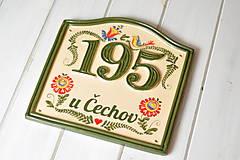Tabuľky - Číslo domu z keramiky - 11406765_