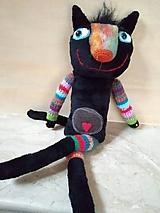 Bábiky - Čierna cica - 11406949_