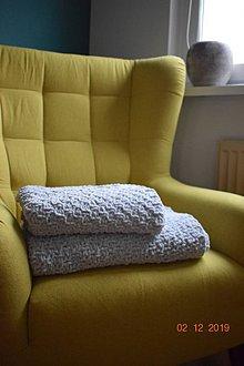 Textil - Detská deka BABY sivá - 11408572_