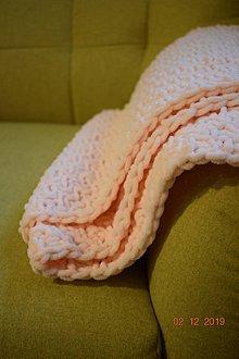Textil - Detská deka BABY marhuľová - 11408690_