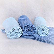 Úžitkový textil - Ručník z vaflové bavlny - modrý - 11408105_