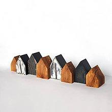 Dekorácie - Dve sady drevených domčekov - 11407456_