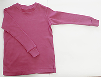 Detské oblečenie - 100% merino funkčné tričko s dlhým rukávom - 11406775_