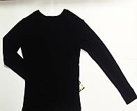 Oblečenie - VÝPREDAJ Modrý pánsky slim fit nátelník L - 11407420_