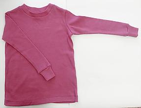 Detské oblečenie - 100% merino funkčné tričko s dlhým rukávom (2 - 4 roky - Bordová) - 11406775_